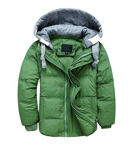 YoungSoul Kinder Daunenjacken Winterjacke mit abnehmbarer Kapuze für Jungen Mädchen Kinderweste Daunenweste warm Herbstjacken Wintermantel 5