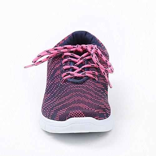Ideal Shoes–Basket Style Running bedruckt Serine Blau