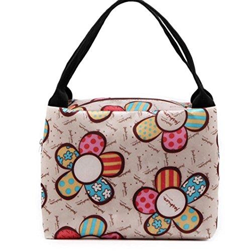 Zolimx Tragbare Lunch Box tragen Tote Beutel Spielraum Picknick Lagerung Tasche (Hobo Unterschrift Handtasche Bag)