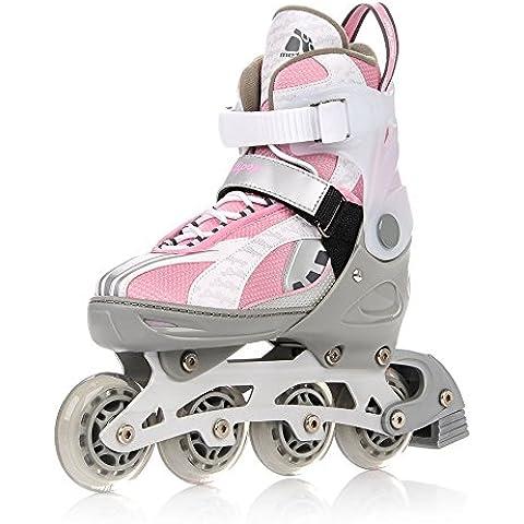 METEOR® LOLLIPOP 2 in 1 Inline Skates / Schlittschuhe | Kinder | Damen | Herren | Größenverstellbar 33-36 / 37-40 / 40-43 | ABEC