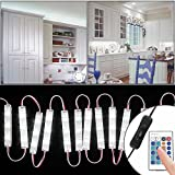 Litake Under Cabinet Lighting Kit, 10ft 60 LEDs Closet Kitchen Cupboard Counter Vanity Mirror LED Lights with Touch Dimmer and Power UK Plug Warm White,Lights Kit 3M