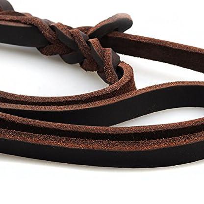 Dog Leash with 2 Handles, 1.9M Long Heavy Duty Handmade Leather Pet Dog Training Lead Leash for Running, Walking, Hiking… 5