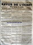 Telecharger Livres REVUE DE L OUEST No 33 du 17 03 1855 JOURNAL POLITIQUE ET D ANNONCES (PDF,EPUB,MOBI) gratuits en Francaise