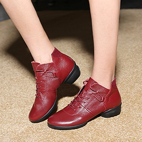 Wuyulunbi@ Scarpe da ballo per adulti scarpe da ballo Claret