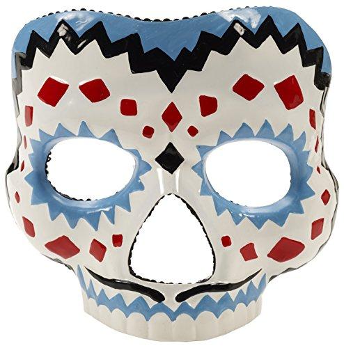 Dia de los Muertos Maske Halloween weiss-blau Einheitsgröße