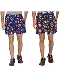 Bfly Combo Of Printed Men's Cotton Shorts - B01IN1KD90