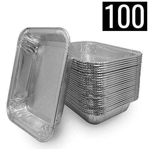 Mamatura 100 Aluschalen   Passend für alle Napoleon & Broil King Grills Alu-Tropfschalen, Grillschalen, 100 Stück