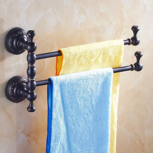 NBE Continental Handtuchhalter/Alle Kupfer Seifenschale/Zahnbürstenhalter Schwarz/antik Rotary Handtuchhalter/Einzel- und Doppelzimmer, DREI-A