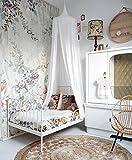 Restbuy Kinder Betthimmel Baldachin aus Baumwolle Mückenschutz Moskitonetz Insektenschutz Baby indoor Play Lesen Zelt Dekoration für Bett und Schlafzimmer (Weiß)