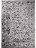 benuta Vintage Teppich im Used-Look Velvet Grau 140x200 cm | Moderner Teppich für Schlafzimmer und Wohnzimmer