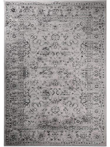 benuta Vintage Teppich im Used-Look Velvet Grau 80x150 cm | Moderner Teppich für Schlafzimmer und Wohnzimmer