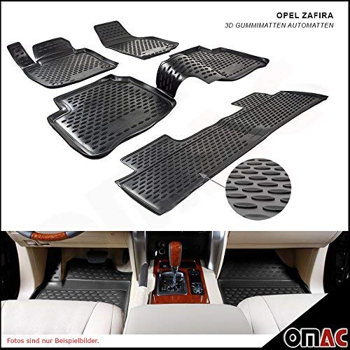 OPEL ZAFIRA TOURER DAL 2012in poi Polymer alta 3d gomma tappetini per auto Tappetini
