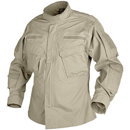 Helikon CPU Hemd Baumwolle Ripstop Khaki Größe L - Mandarin Shirt Jacke