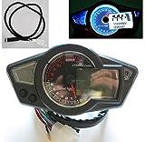 Universal 14000 rpm LCD Digital Velocímetro Tacómetro Cuentakilómetros Motocicleta mph km / h 199 kmh