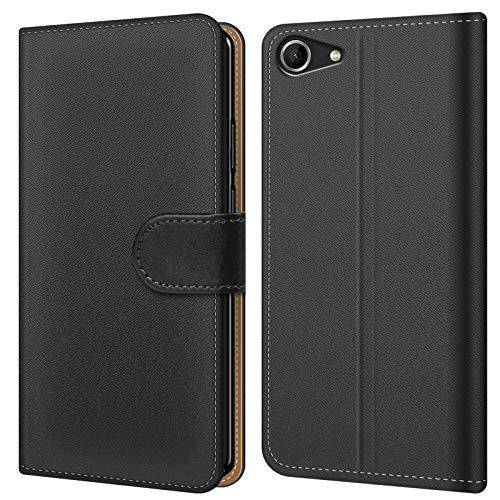 Conie BW44467 Basic Wallet Kompatibel mit Wiko Pulp Fab 4G, Booklet PU Leder Hülle Tasche mit Kartenfächer und Aufstellfunktion für Pulp Fab 4G Case Schwarz