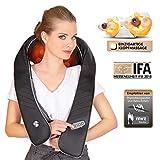RelaxxNow RXM300 3in1 Massagegerät für Schulter Rücken & Nacken, Shiatsu 4D mit klopfen, Wellness Ganzkörper Nackenmassagegerät & Wärme, Schmerztherapie mit Entspannung für ihr Büro & Zuhause