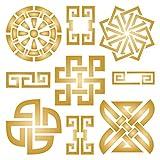 asiatico stencil-riutilizzabili Oriental simbolo di carattere modello Taoist stencil da-da usare su carta progetti scrapbook Journal muri pavimenti tessuto mobili in vetro legno ecc. L