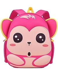Preisvergleich für PENGYUE Kinderrucksack Kindergartenrucksack Kinder Rucksack Bestickt mit Super Meng Affe Karikatur Niedlich Lässig...