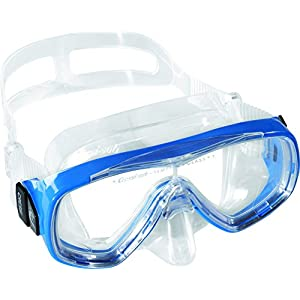 Cressi Junior Ondina Snorkeling Mask (Made in Italy), Clear/Blue