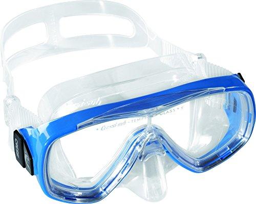 Cressi Estrella Jr Mask Kinder Tauchmasken, Clear/Blau, Uni