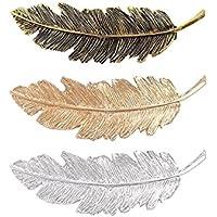 FOUGNOGKISSS Forme la pluma en forma de resorte Pin del clip de pelo para los accesorios del pelo