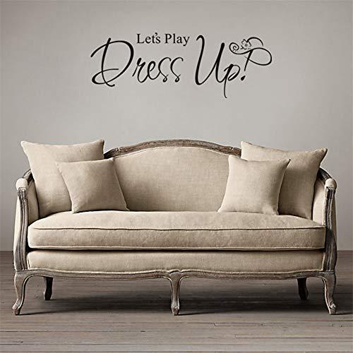 zzlfn3lv Let's Play Dress up Günstige Tapete Wandbild Große Wandaufkleber Für Kinderzimmer Wandkunst Aufkleber Dekoration Zubehör77 * 29 ()