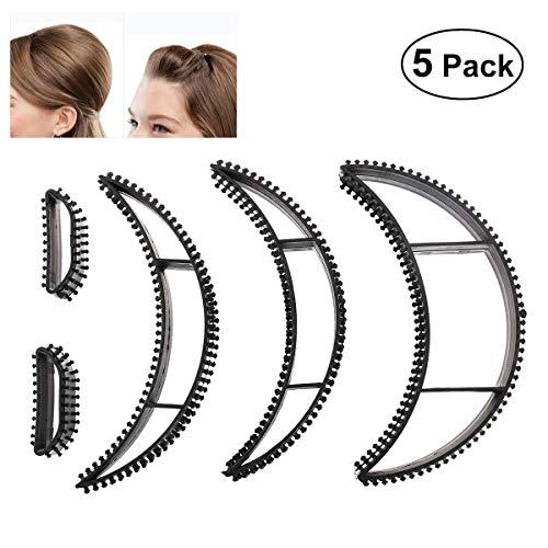 AIUIN Big Bumpits Happie Hair Volumizing Inserts Haarpumpe Beauty Set Werkzeug Geschenk, 5er Pack (Schwarz) -
