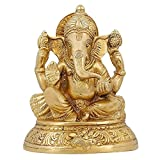 Idol Collections Handmade Indian Brass Religious Items Indian Decor Ganesha Statue Hindu Temple Puja 5 inch