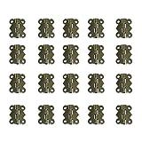 Gazechimp 20 Stück Mini Schmetterling Scharnier mit 80 Stück Schrauben - Bronze