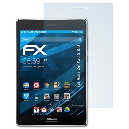 atFolix Schutzfolie kompatibel mit Asus ZenPad S 8.0 Folie, ultraklare FX Displayschutzfolie (2X)