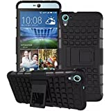 MACC Defender Series Dual Layer Hybrid TPU + PC Kickstand Case Cover for HTC Desire 826 - Black