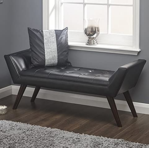 Upholstered Bedroom Chair Living Room Vintage Bench Window Seat Ottoman