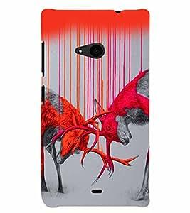 PrintVisa Animal Art Print & Pattern 3D Hard Polycarbonate Designer Back Case Cover for Nokia Lumia 535