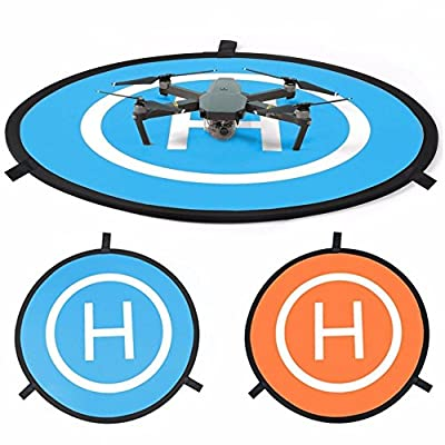 PILAAIDOU RC Drones Landing Pad H 75cm/30'' Landing Pad Portable Foldable Landing Pads Universal Waterproof for DJI Spark Mavic Pro Phantom 2 3 4 Inspire 1 Yuneec Typhoon Outdoor Accessories