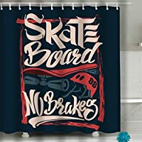 "Xunulyn Creative Home Ideas Shower Curtain 60""x72"" skate board no brakes"