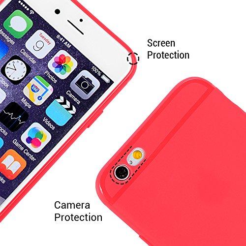 KASOS Coque iPhone 6 Plus 6S Plus, Coque Housse Case Bumper Étui Coque de Protection en TPU Silicone Souple Ultra Hybrid Ultra Slim Mince Léger Ajustement Parfait Antichoc Housse iPhone 6 Plus 6S Plus Pastèques Rouge