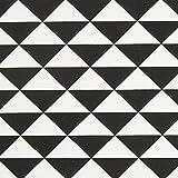 Fabulous Fabrics Dekostoff Dreieck 5 – schwarz —