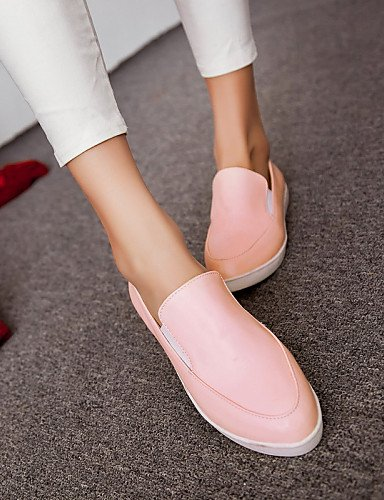 ZQ gyht Scarpe Donna - Mocassini - Casual - Punta arrotondata - Piatto - Finta pelle - Nero / Rosa / Bianco , pink-us8 / eu39 / uk6 / cn39 , pink-us8 / eu39 / uk6 / cn39 black-us5 / eu35 / uk3 / cn34