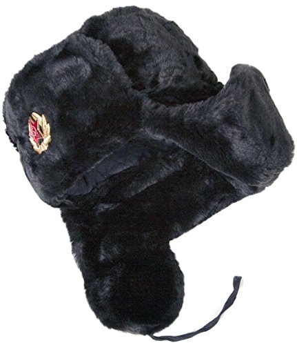ORIGINAL Russian Fur Ushanka Winter genuin wool Cold War Hat Cap With