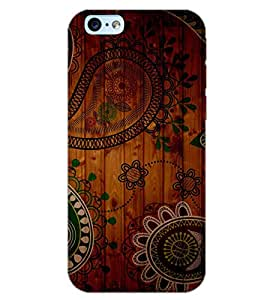 PrintDhaba WALL PATTERN D-6136 Back Case Cover for APPLE IPHONE 6S PLUS (Multi-Coloured)