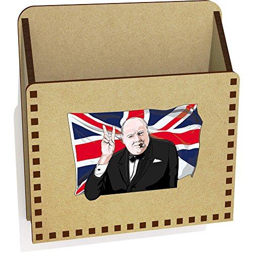 Azeeda 'Winston Churchill' Hölzern Brief Halter / Box (LH00032173)