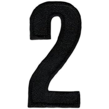 as43 Zahl 4 Vier Schwarz Patch Nummer Aufnäher Bügelbild Applikation 2,5 x 5 cm