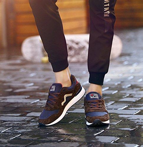 Uomini Leggero Scarpe Da Corsa Autunno Nuova Maglia Respirabile Scarpe Casual Giovani Allacciare Scarpe Da Ginnastica Brown