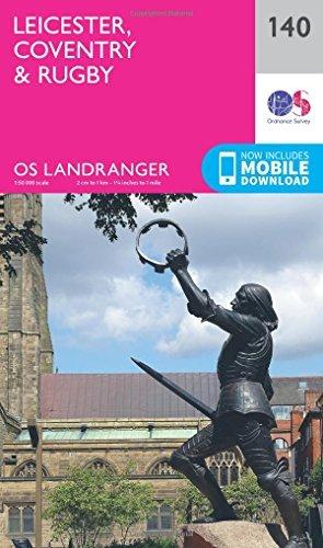 Landranger (140) Leicester, Coventry & Rugby (OS Landranger Map) by Ordnance Survey (2016-02-24) par Ordnance Survey