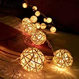 Vovotrade-20-LED-Blanc-Chaud-rotin-Boule-cordes-Guirlande-lumineuse-Pour-Xmas-Party-Hot-mariage