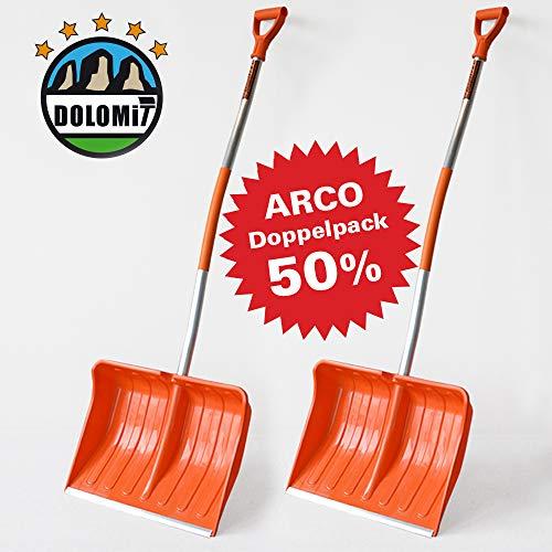 1 x Schneeschieber GRATIS! Doppelpack 2 ergonomische Kunststoff Schneeschieber ARCO 50% Rabatt (Einzelpreis 49,80)
