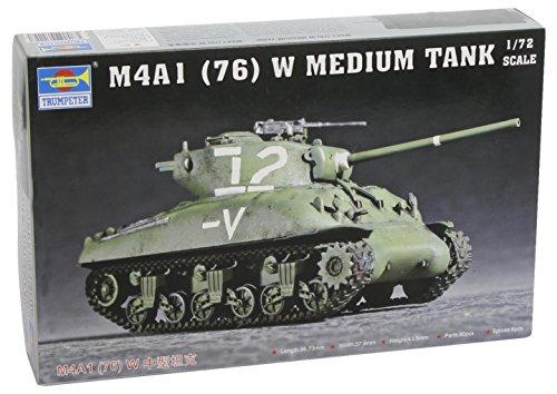 Trumpeter 07222 M4A1 (76) W Tank - Tanque en Miniatura (Escala 1:72)