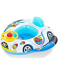Inflable bebé Infante Niño infantil Piscina asiento del flotador del barco Anillo Raft Presidente piscina de
