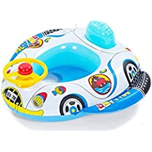 Inflable bebé Infante Niño infantil Piscina asiento del flotador del barco Anillo Raft Presidente piscina de juguete (altavoz del