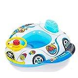 Inflable bebé Infante Niño infantil Piscina asiento del flotador del barco Anillo Raft Presidente piscina de juguete (altavoz del coche)